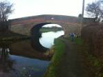 Cycling on canal towpaths - canal bridge view