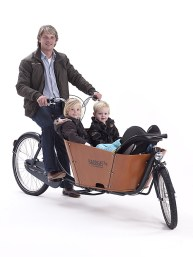 2 wheeled Cargo Bike for transporting kids