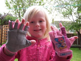 Kidzamo child size cycling gloves are cheap fingerless kids bike gloves that wash well and are suitable for small hands