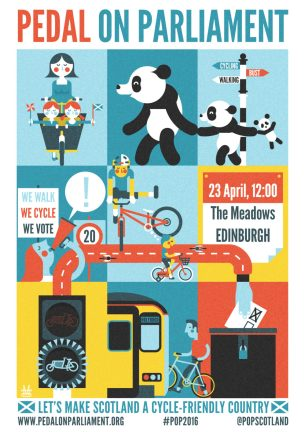 Pedal on Parliament 2016 poster