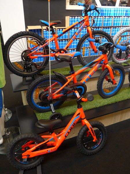 Cube kids bikes at the 2016 Cycle Show