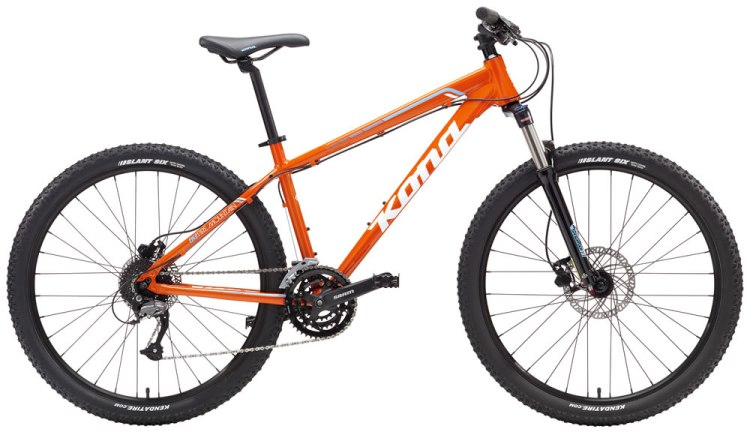 Kona mountain bikes for teenagers - Kona Fire Mountain in black or orange? Your choice