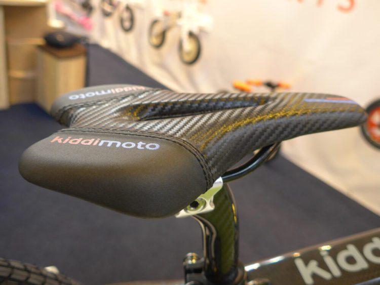 Luxury Gel Saddle on the Kiddimoto Karbon balance bike