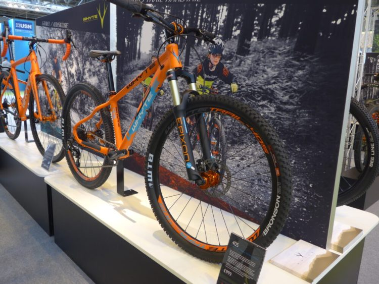 Whyte Bikes junior 405 mountain bikes at the 2016 Cycle Show, NEC Birmingham