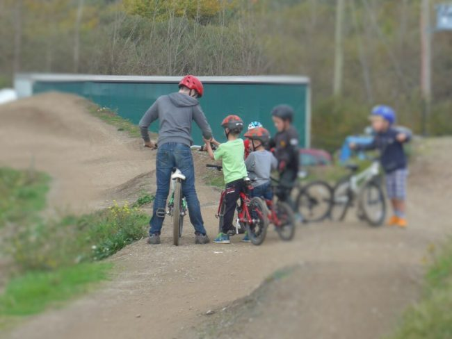 Lesson at the bike park