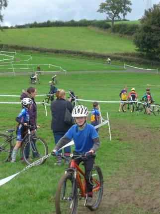 Enjoying the U8 cyclo-cross league race