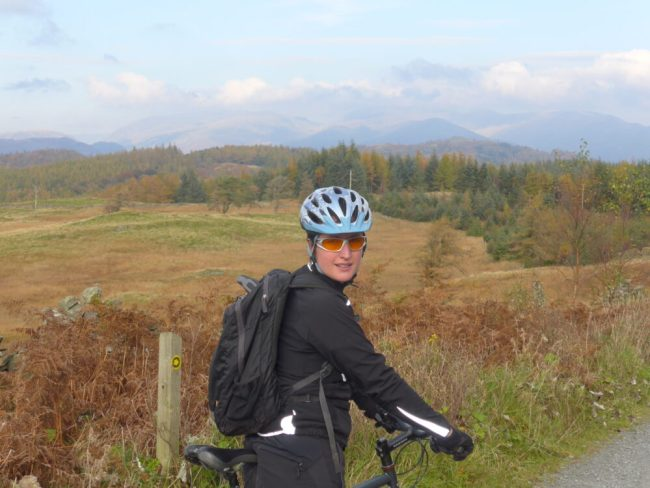 Enjoying the view from the North FaceMountain Bike Trail at Grizedale Forest
