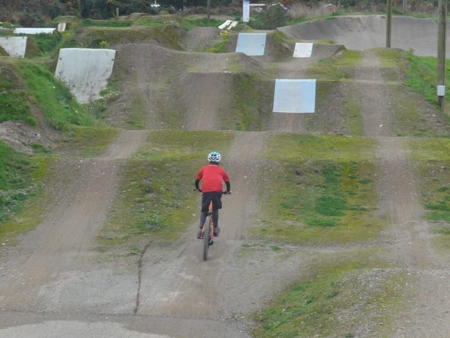 Riding the BMX Race Track at Portreath, Redruth, Cornwall