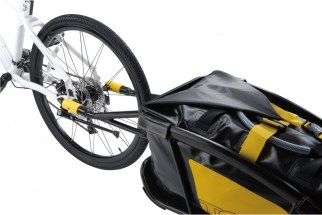 Topeak Journey Trailer attached to bike