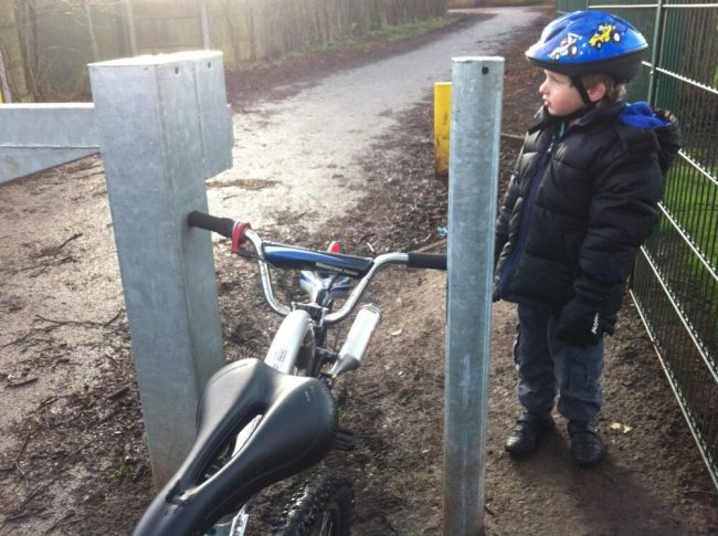 Barriers on cycle paths can be very annoying