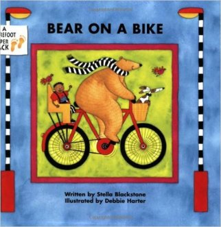 best cycling presents for a 4 year old this Christmas - Bear on a bike book