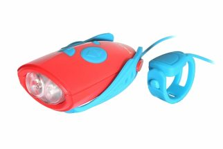 best cycling presents for a 4 year old this Christmas - Mini Hornet bike light and siren. A cycling present for a pre-schooler you don't actually have to ride with!