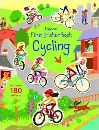 best cycling presents for a 4 year old this Christmas - Cycling sticker book. Makes a great cycling presents for a pre-schooler