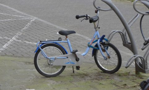 Rusty old kids bike