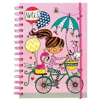 Rachel Allen Girl on a Bike Notebook