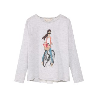 Mango Girl on a bike t-shirt