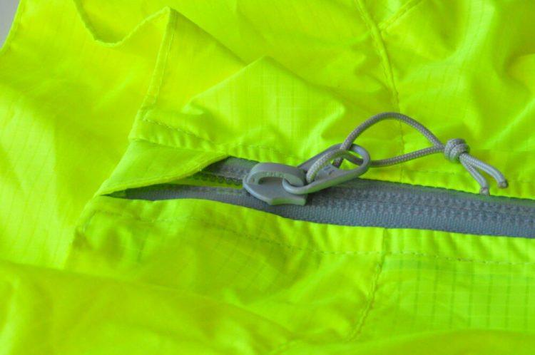 Polaris Strata kids waterproof cycling jacket zip garage and baffle