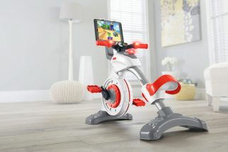 A new stationary exercise bike for toddlers from Fisher Price