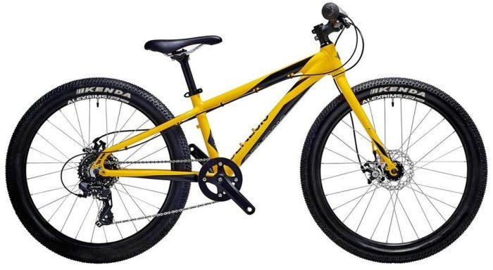 Genesis Core 24 in yellow/black - The best kids mountain bikes with 24 inch wheels