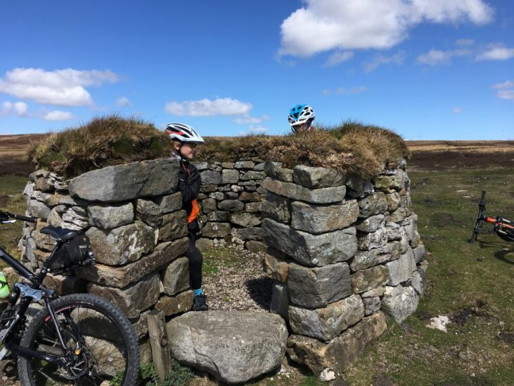 Mountain biking near Askrigg, Yorkshire Dales