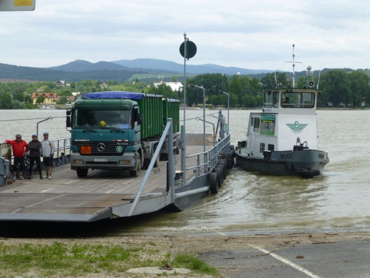 Ferry across the Danube