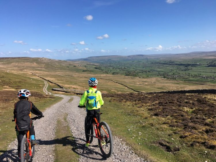 Wide bridleways for kids mtb in Yorkshire Dales