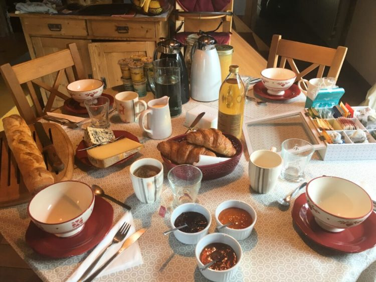 Yum yum!! Our delicious breakfast in the family friendly accommodation in the French Alps