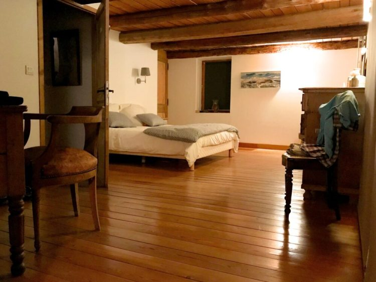 The master bedroom at Maison Amalka, family friendly accommodation in the French Alps, close to Montgenèvre and Col du Lautaret - great for family cycling and skiing holidays