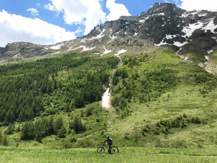 Family cycling in the French Alps - it's not all steep as there are plenty of valley rides for younger riders to enjoy
