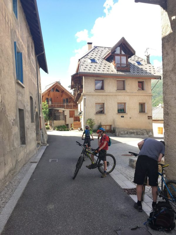 Cycling through the deserted ski resorts near Serre Chevalier