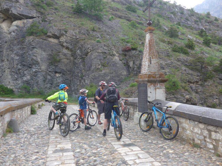 Entering Briançon on our mountain bikes
