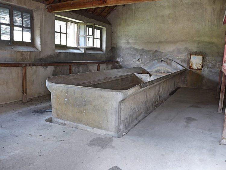 Vallée de la Clarée in the French Alps - inside an old public laundry at Val-Des-Prés