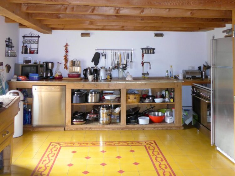 The kitchen at Maison Amalka is really well stocked - perfect for a self catering family holiday in the French Alps