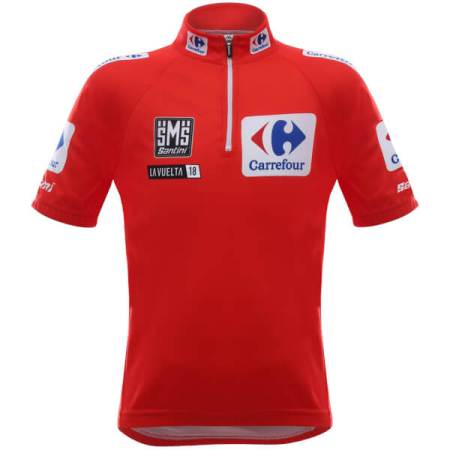 Santini kids La Vuelta 2018 red leaders jersey