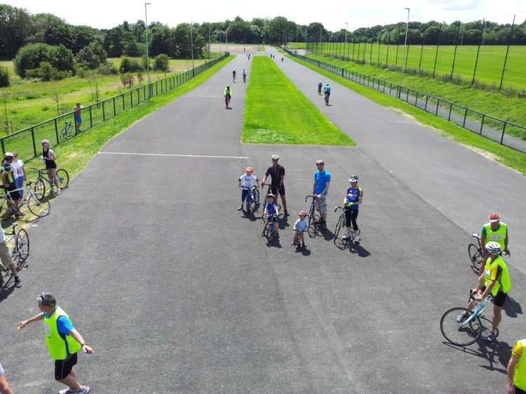 Kids cycle riding at the Brownlee Centre Leeds