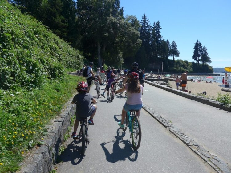 Cycling Stanley Park Vancouver