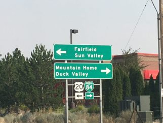 First sign to Sun Valley