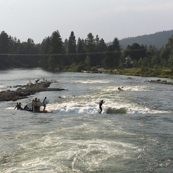 Surfing on the Deschutes River, Bend