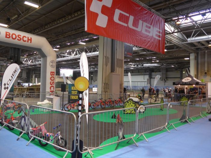 Kids bike test track at the 2016 Cycle Show