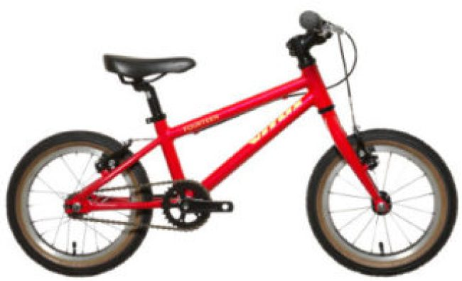 "Vitus Fourteen starter bike with 14"" wheels - suitable for ages 3 to 5 years old"