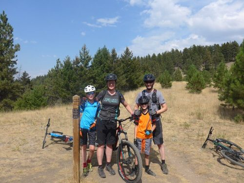 At the top of Mount Helena Montana