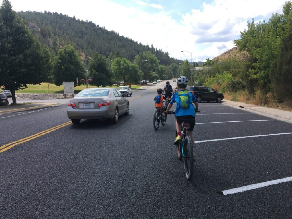 Riding on teach with the kids in Helena Montana