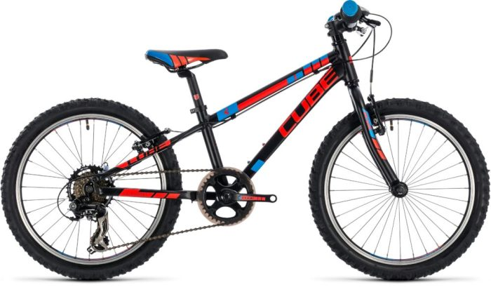 Cube Kid 200 in black is currently discounted in the Black Friday deals on kids MTBs