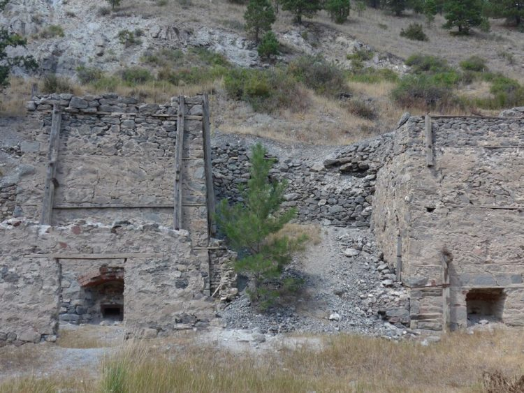 Limestone kilns on the way to the mountain bike trails Helena Montana