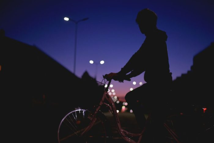 Kids on bikes in the dark - how to make your child visible to drivers in the dark