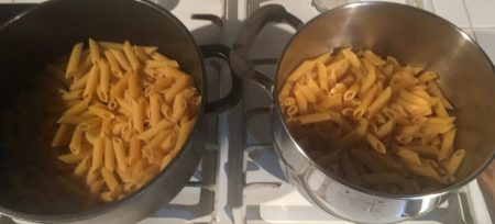 Lots of pasta for the LELOGers who stayed in Kendal on their 4 day Lands End to John O'Groats attempt over Hogmanay New Year 2017 / 2018