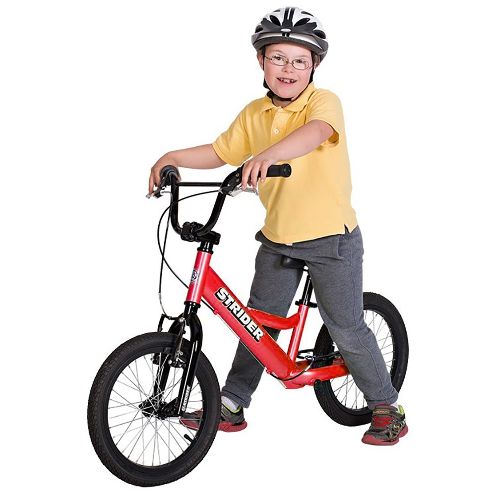 Strider 16 balance bike for older disabled kids