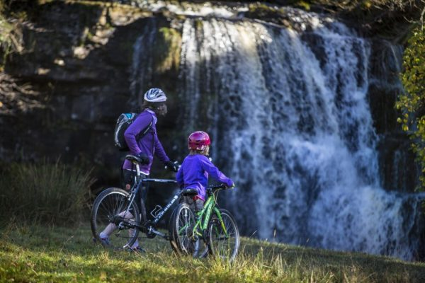 Swale Trail nr Keld, Yorkshire Dales is a great mountain biking route for families with older children