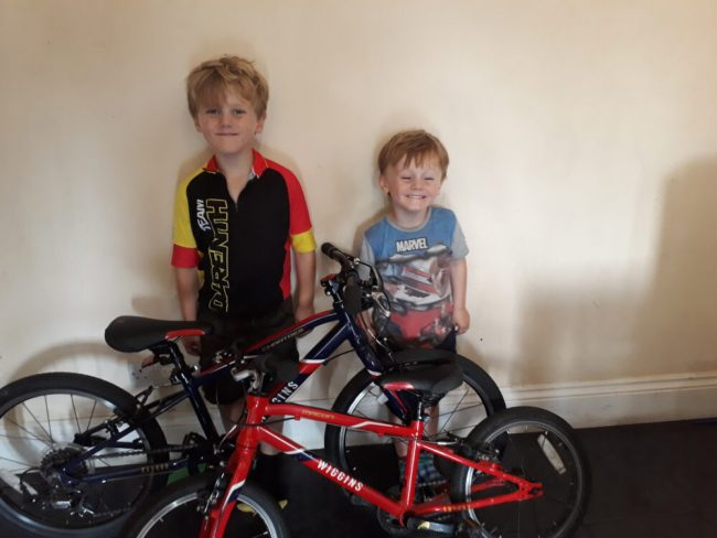 Nathan and Jacob and their Wiggins Bikes
