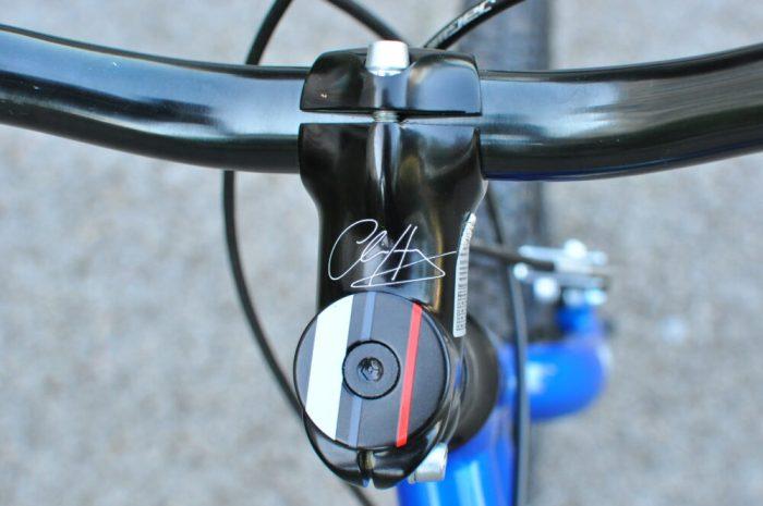 Hoy Bonaly 20 Chris Hoy signature on stem